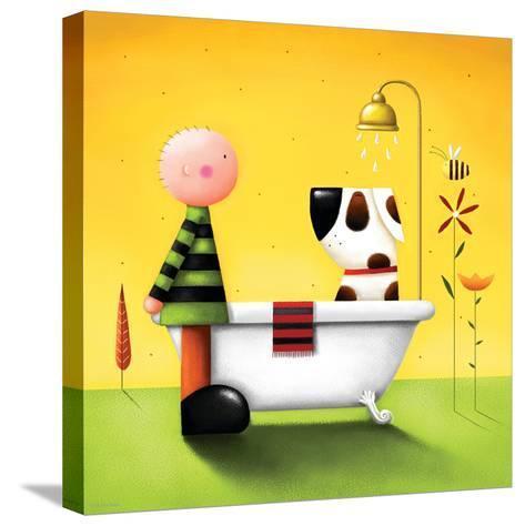 Bathtime-Jo Parry-Stretched Canvas Print