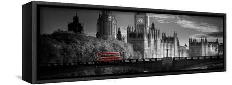 London Bus V- Jurek Nems-Framed Canvas Print