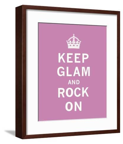 Keep Glam and Rock On-The Vintage Collection-Framed Art Print
