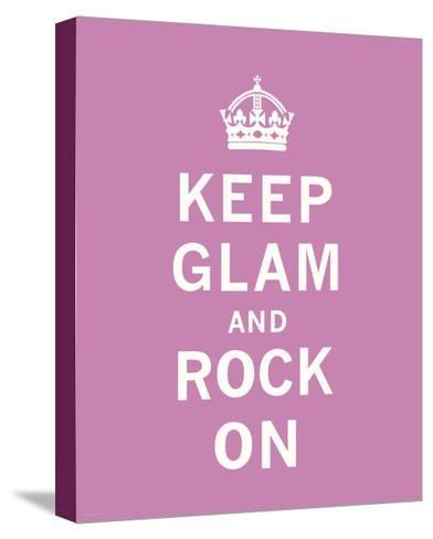 Keep Glam and Rock On-The Vintage Collection-Stretched Canvas Print