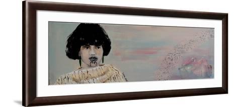 Young Maori Women with Cloak, 2015-Susan Adams-Framed Art Print