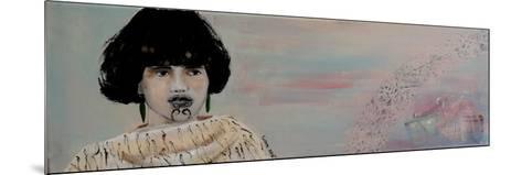Young Maori Women with Cloak, 2015-Susan Adams-Mounted Giclee Print