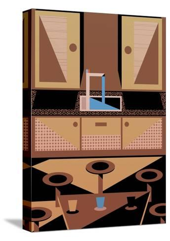 Kitchen, 2015-Benjamin Gottwald-Stretched Canvas Print