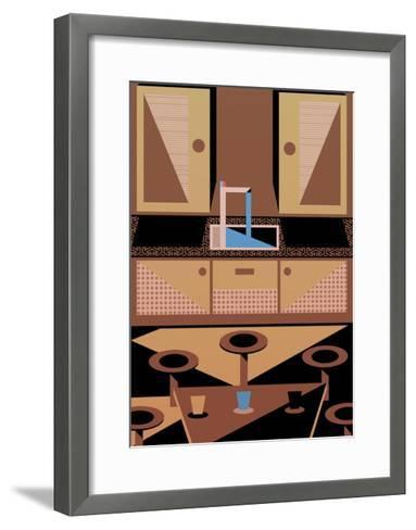 Kitchen, 2015-Benjamin Gottwald-Framed Art Print
