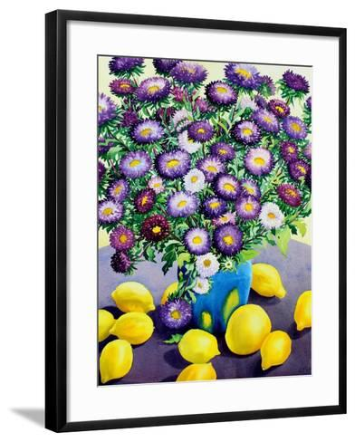 Purple Asters and Lemons-Christopher Ryland-Framed Art Print