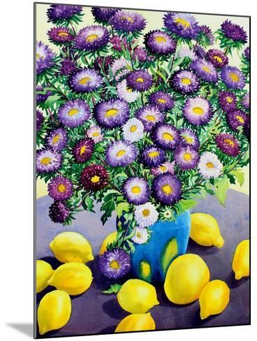 Purple Asters and Lemons-Christopher Ryland-Mounted Giclee Print