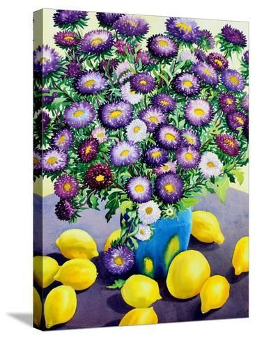 Purple Asters and Lemons-Christopher Ryland-Stretched Canvas Print