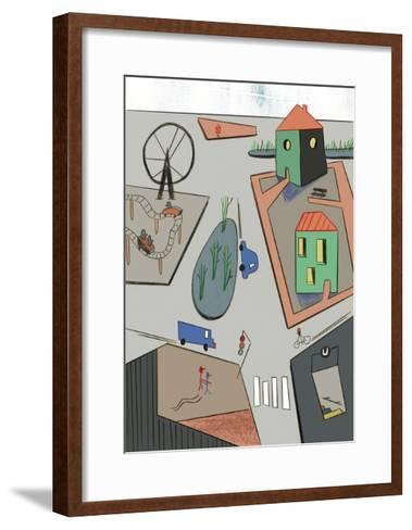 Intersection, 2015-Benjamin Gottwald-Framed Art Print