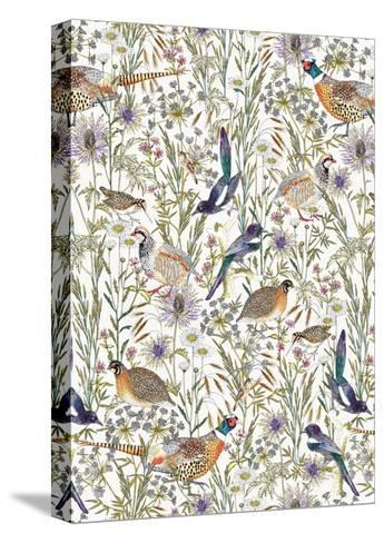 Woodland Edge Birds-Jacqueline Colley-Stretched Canvas Print