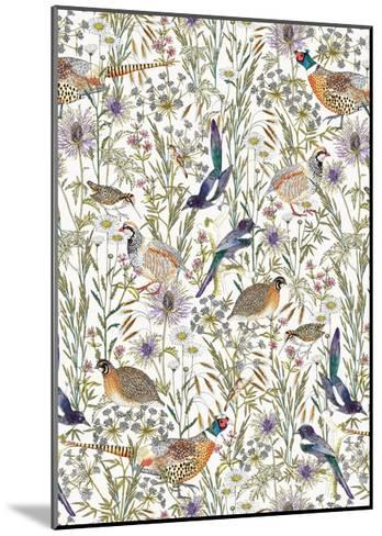 Woodland Edge Birds-Jacqueline Colley-Mounted Giclee Print