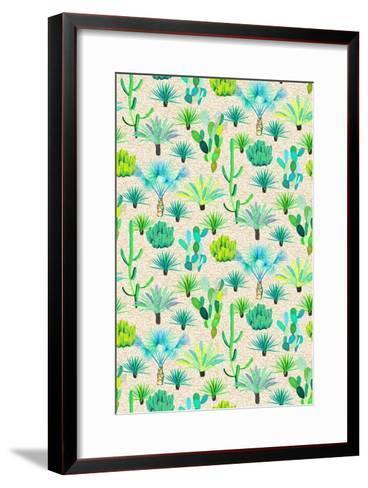 Les Jardins Majorelle - Cacti-Jacqueline Colley-Framed Art Print