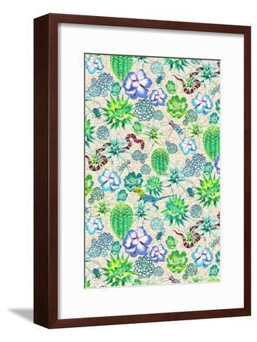 Les Jardins Majorelle - Succulents-Jacqueline Colley-Framed Art Print