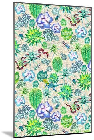 Les Jardins Majorelle - Succulents-Jacqueline Colley-Mounted Giclee Print