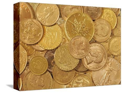 Gold Coins-Dave Watts-Stretched Canvas Print