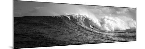Surfer in the Sea, Maui, Hawaii, USA--Mounted Photographic Print