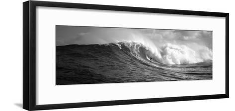 Surfer in the Sea, Maui, Hawaii, USA--Framed Art Print