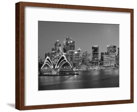 Australia, New South Wales, Sydney, Sydney Opera House, City Skyline at Dusk-Shaun Egan-Framed Art Print