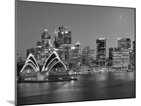 Australia, New South Wales, Sydney, Sydney Opera House, City Skyline at Dusk-Shaun Egan-Mounted Photographic Print