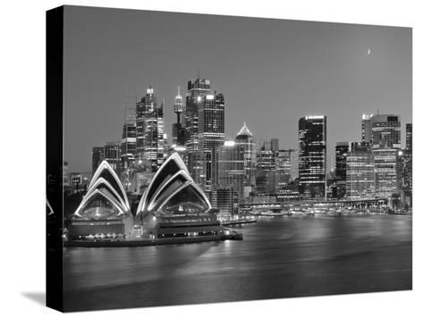 Australia, New South Wales, Sydney, Sydney Opera House, City Skyline at Dusk-Shaun Egan-Stretched Canvas Print