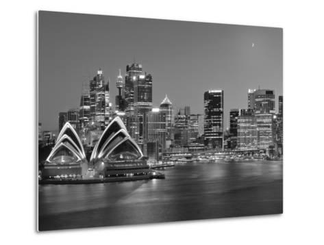 Australia, New South Wales, Sydney, Sydney Opera House, City Skyline at Dusk-Shaun Egan-Metal Print