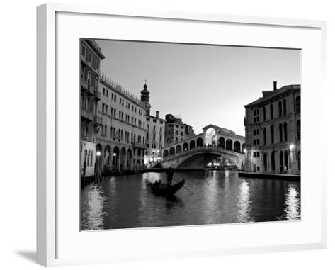Rialto Bridge, Grand Canal, Venice, Italy-Alan Copson-Framed Art Print