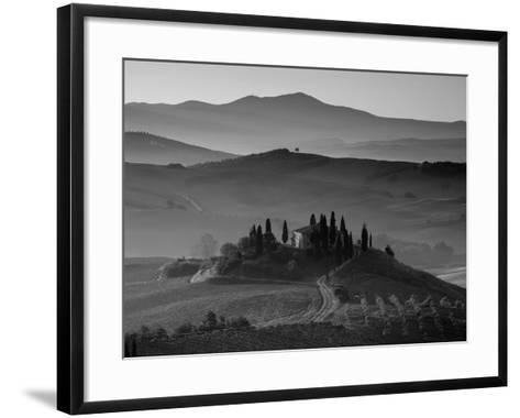 Farmhouse, Val D' Orcia, Tuscany, Italy-Doug Pearson-Framed Art Print