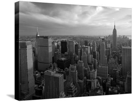 New York City, Manhattan, View of Downtown and Empire State Building from Rockerfeller Centre, USA-Gavin Hellier-Stretched Canvas Print