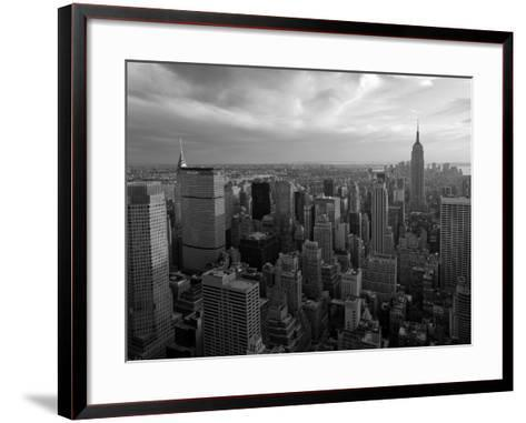 New York City, Manhattan, View of Downtown and Empire State Building from Rockerfeller Centre, USA-Gavin Hellier-Framed Art Print