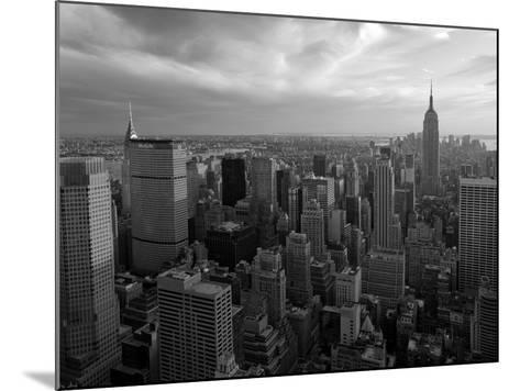 New York City, Manhattan, View of Downtown and Empire State Building from Rockerfeller Centre, USA-Gavin Hellier-Mounted Photographic Print