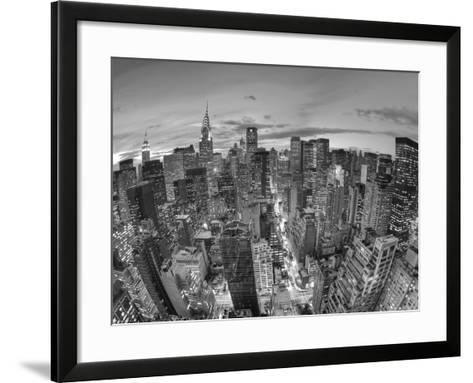 Chrysler Building and Midtown Manhattan Skyline, New York City, USA-Jon Arnold-Framed Art Print