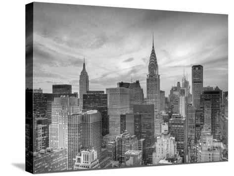 Midtown Skyline with Chrysler Building and Empire State Building, Manhattan, New York City, USA-Jon Arnold-Stretched Canvas Print