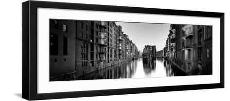 Germany, Hamburg, Warehouses and New Apartments in the Converted Speichrstadt District-Michele Falzone-Framed Art Print