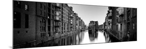 Germany, Hamburg, Warehouses and New Apartments in the Converted Speichrstadt District-Michele Falzone-Mounted Photographic Print