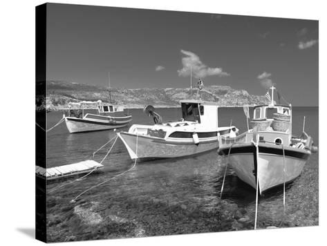 Fishing Boats at Anopi Beach, Karpathos, Dodecanese, Greek Islands, Greece, Europe-Sakis Papadopoulos-Stretched Canvas Print