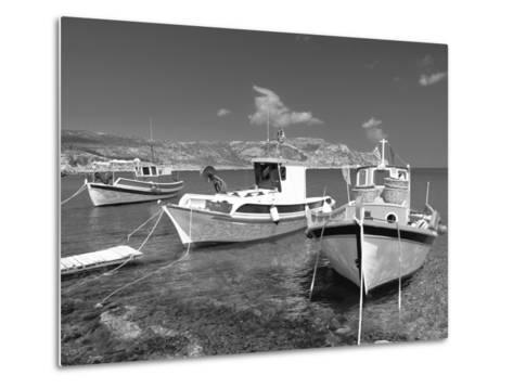 Fishing Boats at Anopi Beach, Karpathos, Dodecanese, Greek Islands, Greece, Europe-Sakis Papadopoulos-Metal Print