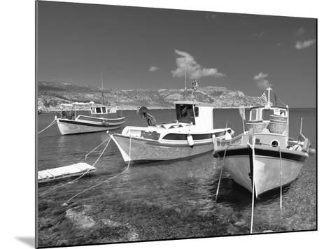 Fishing Boats at Anopi Beach, Karpathos, Dodecanese, Greek Islands, Greece, Europe-Sakis Papadopoulos-Mounted Photographic Print