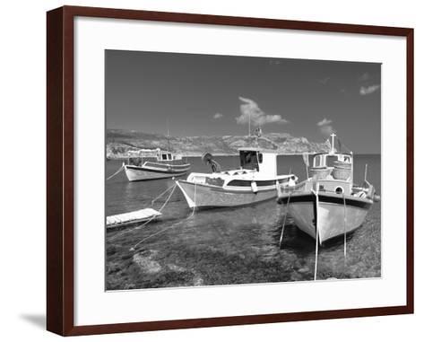 Fishing Boats at Anopi Beach, Karpathos, Dodecanese, Greek Islands, Greece, Europe-Sakis Papadopoulos-Framed Art Print