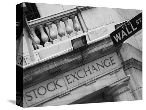 New York Stock Exchange, Wall Street, Manhattan, New York City, New York, USA-Amanda Hall-Stretched Canvas Print
