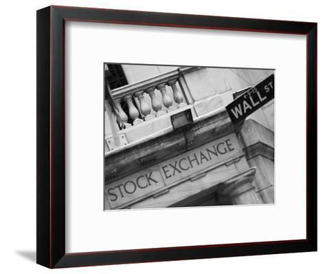 New York Stock Exchange, Wall Street, Manhattan, New York City, New York, USA-Amanda Hall-Framed Art Print