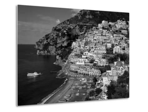 Amalfi Coast, Coastal View and Village, Positano, Campania, Italy-Steve Vidler-Metal Print