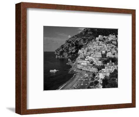 Amalfi Coast, Coastal View and Village, Positano, Campania, Italy-Steve Vidler-Framed Art Print
