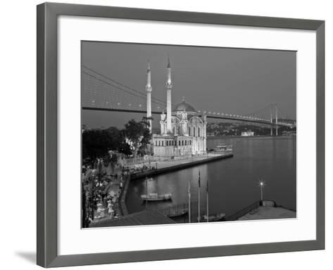 Bosphoros River Bridge and Ortakoy Camii Mosque, Ortakoy District, Istanbul, Turkey-Gavin Hellier-Framed Art Print