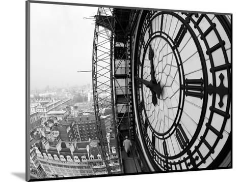 Close-Up of the Clock Face of Big Ben, Houses of Parliament, Westminster, London, England-Adam Woolfitt-Mounted Photographic Print