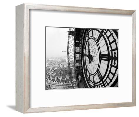 Close-Up of the Clock Face of Big Ben, Houses of Parliament, Westminster, London, England-Adam Woolfitt-Framed Art Print