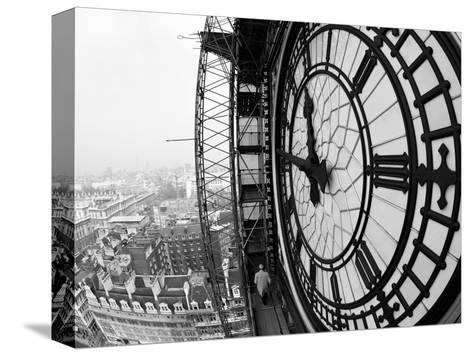 Close-Up of the Clock Face of Big Ben, Houses of Parliament, Westminster, London, England-Adam Woolfitt-Stretched Canvas Print