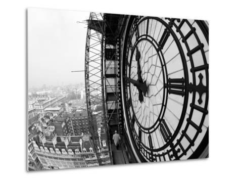 Close-Up of the Clock Face of Big Ben, Houses of Parliament, Westminster, London, England-Adam Woolfitt-Metal Print