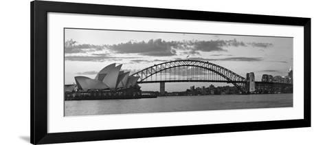 Opera House and Harbour Bridge, Sydney, New South Wales, Australia-Michele Falzone-Framed Art Print