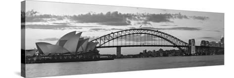 Opera House and Harbour Bridge, Sydney, New South Wales, Australia-Michele Falzone-Stretched Canvas Print