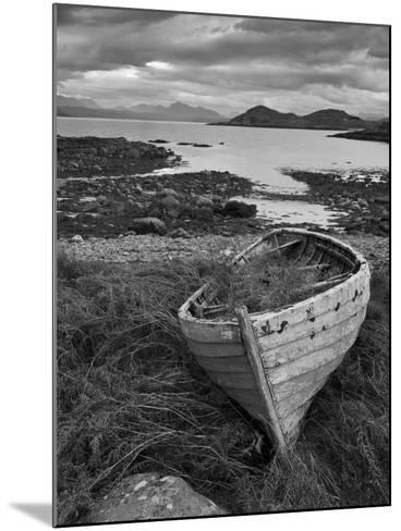 Sunset, Old Blue Fishing Boat, Inverasdale, Loch Ewe, Wester Ross, North West Scotland-Neale Clarke-Mounted Photographic Print