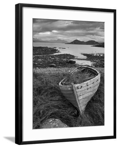 Sunset, Old Blue Fishing Boat, Inverasdale, Loch Ewe, Wester Ross, North West Scotland-Neale Clarke-Framed Art Print